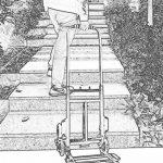 Chariots de courses Pliage plat de chariot de grimpeur d'escalier de chariot à main résistant de camion, déplacement multi de fonction de 6 roues de la marque Chariots de courses image 4 produit