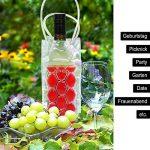 COM-FOUR 4x Refroidisseur de bouteilles en bleu, rouge, violet et vert, sac isotherme avec poignée pour bouteilles de refroidissement, 24.5 x 10 x 10 cm (04 pièces - rouge + bleu + vert + violet) de la marque com-four image 1 produit