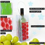 COM-FOUR 4x Refroidisseur de bouteilles en bleu, rouge, violet et vert, sac isotherme avec poignée pour bouteilles de refroidissement, 24.5 x 10 x 10 cm (04 pièces - rouge + bleu + vert + violet) de la marque com-four image 2 produit