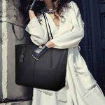Coofit Sacs portés épaule femme Cabas Sac à main femme cuir Sac femme shopping Sac bandoulière femme en cuir de la marque Coofit image 2 produit