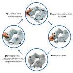 Coussin de voyage RelFit – Oreiller cervicales gonflable ergonomique de qualité PREMIUM, Tour de nuque avec En CADEAU : masque sommeil + bouchons d'oreilles - Kit confort pour dormir en voiture/avion de la marque RelFit image 4 produit