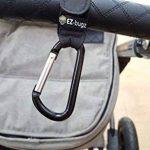 Crochets de poussette par EZ-Bugz. Mousquetons/clips pour accrochez vos achats, sacs et cabas sur un landau. Universel, Noir, Pack de 2 de la marque EZ-Bugz image 1 produit