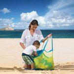 Cuitan Sac en Maille Stockage Rangement de Jouets Sac en Filet Pliant pour Jouet Sable Plage Bébé Les Enfant de la marque Cuitan image 3 produit