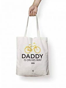 Daddy on his way - tote bag, sac cabas, sac de course, sac de cours, sac fourre-tout, sac en toile, sac coton, sac à main de la marque On The Other Fish image 0 produit