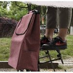 DCRYWRX Shopping Cart Portable Pliant Chariot Roues Doubles Escaliers Panier D'épicerie Imperméable À l'eau De Chariot De Supermarché,C de la marque DCRYWRX image 2 produit