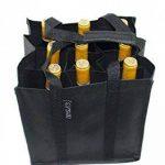 Dom'Suits Grand sac à bouteilles Grand format Contient max. 9 bouteilles de 1,5 litre chacune –Porte-bouteilles avec poignée renforcée–Facile à ranger–28x 28x 28cm–En noir de la marque Dom'Suits image 3 produit