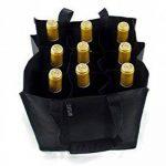Dom'Suits Grand sac à bouteilles Grand format Contient max. 9 bouteilles de 1,5 litre chacune –Porte-bouteilles avec poignée renforcée–Facile à ranger–28x 28x 28cm–En noir de la marque Dom'Suits image 1 produit
