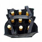 Dom'Suits Grand sac à bouteilles Grand format Contient max. 9 bouteilles de 1,5 litre chacune –Porte-bouteilles avec poignée renforcée–Facile à ranger–28x 28x 28cm–En noir de la marque Dom'Suits image 4 produit