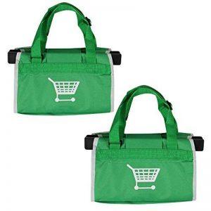 DYHQQ Sac À Provisions Écologique Réutilisable en Nylon Pliable De 2 Paquets pour Le Chariot De Supermarché, Vert,Packof2 de la marque DYHQQ image 0 produit