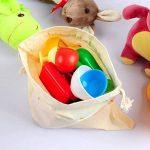 E-MANIS Sac de Produits réutilisables Organic - Ensemble DE 7 (2 Grands, 3 Moyens, 2 Petits) Sac en Lin Naturel en Coton Bio,Sacs de Produits en Coton Organique Naturel de Coton de la marque E-MANIS image 3 produit