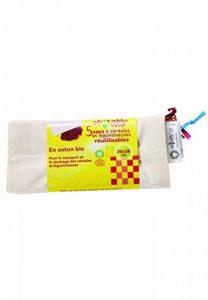 Ecodis - 5 Sacs réutilisables céréales et légumineuses, en coton bio de la marque ECODIS image 0 produit