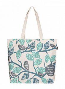 Eono Essentials 100% Cotton/Canvas, Reusable, Large Tote Bag Printed Sparrows de la marque Eono image 0 produit