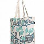 Eono Essentials 100% Cotton/Canvas, Reusable, Large Tote Bag Printed Sparrows de la marque Eono image 1 produit