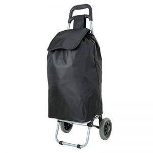 EONO Essentials 47L Chariot de Courses Poussette de marché Caddie à Deux Roues, Noir de la marque image 0 produit