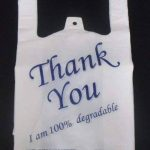 Eposgear® Lot de 100–Large Blanc/bleu Thank You 100% biodégradables Eco Sacs en plastique de la marque EPOSGEAR image 2 produit