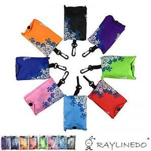 Extensible Sacs Cabas réutilisables Grocery Cabas Shopping Courses Pratique Pratique sacs, sacs de voyage, Polyester, traditional blue and white, 7 de la marque RayLineDo image 0 produit