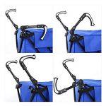 GAOYANG Panier Pliant, Chariot Utilitaire Roulant, Sac pour Chariot D'épicerie avec Une Roulette, Bleu (45 * 56 * 95cm) (Couleur : Bleu) de la marque GAOYANGgouwuche image 4 produit