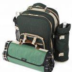 Greenfield Collection - Sac à dos de pique-nique Super Deluxe pour 2 personnes avec plaid assorti - Vert Forêt de la marque Greenfield Collection image 1 produit