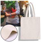Guoyy Sacs à main personnalisés en toile sacs fourre-tout en toile sac à provisions réutilisable en coton beige de la marque Guoyy image 1 produit