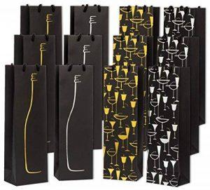 Haute Soiree Sacs-Cadeaux de vin Haut de Gamme - Paquet DE 12 de la marque Haute Soiree image 0 produit
