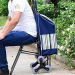 HCC& Chariot Dolly Achats Panier de courses Pliable Monter les escaliers Roue de charrette à bras de supermarché 6 Chariot utilitaire Voyage Provisions Avec siège de la marque HCC& image 1 produit