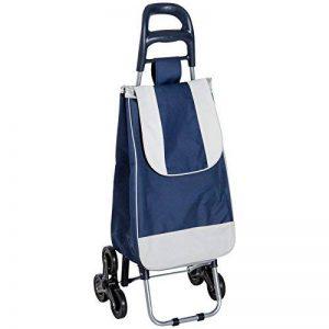 Homcom Chariot de Courses Pliable Six Roues avec Sac Amovible Tissu Oxford résistant Bleu et Blanc 29 de la marque Homcom image 0 produit