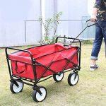HOMFA Chariot de Transport 83X53X63cm Charrette à Bras Chariot Transport Bricolage Pliable Remorque Pliante Poussette a 80kg (Rouge) de la marque Homfa image 2 produit