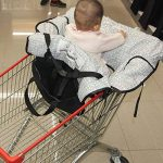 Housse de chaise haute, Fushop 2-en-1 bébé couvercle de panier d'achat étanche, couverture de panier d'épicerie avec ceinture de sécurité, positionneur de siège pour bébé, enfant en bas âge de la marque FushoP image 4 produit