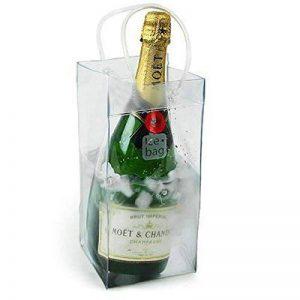 Ice Bag Seau à Vin Rafraîchisseur de Bouteille Transparent sac isotherme avec poignée pour champagne vin de la marque LUOEM image 0 produit