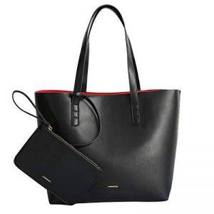 imbettuy Élégant Sac à Main Noir Femme Sac Bandouliere Vintage Sac à provisions Sac Cabas Noir Cuir PU de la marque imbettuy image 0 produit