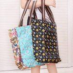 ISABELLE Sac de courses sac shopping cabas pliable en tissu Oxford de la marque LA HAUTE image 3 produit