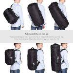 JSVER Travel sac de voyage en nylon résistant à l'eau pliable bagages flexibles pour le sport et la salle de gym avec 12 façons de transporter de la marque JSVER image 3 produit