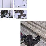 JUN-Chariots de courses Chariot pliable d'escalade pliable léger   Panier d'achat Chariot de voyage Chariot 6 Roue silencieuse résistante à l'usure Poussée pliante, tirez chariots Sac à provisions en tissu d'Oxford Chariot Portable Fourre-tout Grande capa image 3 produit