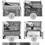 JUN-Chariots de courses Escalade Escalade Shopping Chariot Léger Pliable Shoppping   Voyage   Poussée démontable de roue en caoutchouc du chariot 6 d'épicerie, traction caresse la grande capacité 48L dans Brown de la marque JUN-Chariots de courses image 3 produit
