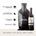 Kosdeg réutilisable protection d'une bouteille de vin, lot de 3, une bouteille de vin sac de Voyage de la marque Kosdeg image 2 produit