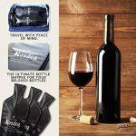 Kosdeg réutilisable protection d'une bouteille de vin, lot de 3, une bouteille de vin sac de Voyage de la marque Kosdeg image 3 produit