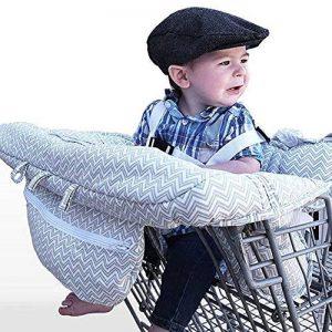 LeRan Réglable Bébé Supermarché Shopping Trolley Protège Siège Housse de chaise haute universelle pour tout-petits et housses de coussins de panier avec sac de transport, poussettes lavables, organiseurs plus souples, maintien de la sécurité des enfants ( image 0 produit