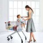 LeRan Réglable Bébé Supermarché Shopping Trolley Protège Siège Housse de chaise haute universelle pour tout-petits et housses de coussins de panier avec sac de transport, poussettes lavables, organiseurs plus souples, maintien de la sécurité des enfants ( image 1 produit