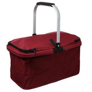 Levivo Panier à Commissions refermable avec Cadre en Aluminium Pliant, Rouge de la marque Levivo image 0 produit