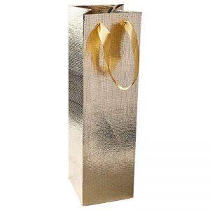 Élégant poches cadeau pour bouteille, 36cm x 10,5cm x 10,5cm, Doré, Lot de 3| Bouteille de vin Sacs, Sacs, Pochettes Cadeaux pour vin, Prosecco, champagne, Champagne de la marque Ideen mit Herz image 0 produit