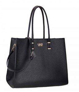 LI&HI Élégant Sac à Main Noir Femme Sac Bandouliere Vintage Gros Sac à provisions Sac Cabas Noir - 36x28x16 cm de la marque LI&HI image 0 produit