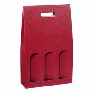 'Lot de 10Carton de portage, coffret cadeau dekowell Bordeaux pour trois bouteilles de la marque Weinkarton24.com image 0 produit