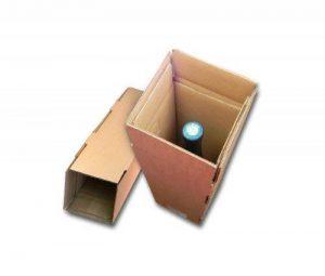 Lot de 10 cartons spéciaux pour expédier 1 bouteille de la marque enveloppebulle image 0 produit