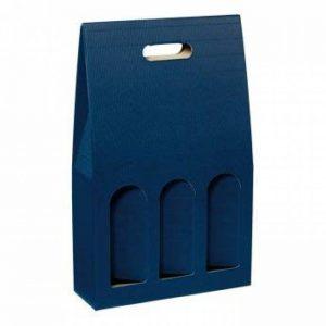 """'Lot de 10portes-bouteilles, cadeau """"dekowell (Bleu Saphir) pour trois bouteilles de la marque Weinkarton24.com image 0 produit"""