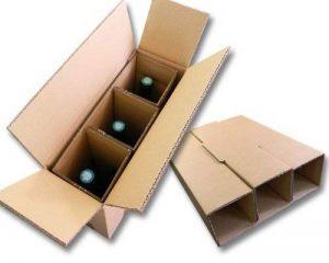 Lot de 5 cartons spéciaux pour expédier 3 bouteilles de la marque enveloppebulle image 0 produit