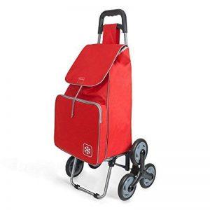 Metaltex Peony Chariot de courses avec 6roues, Metal, 120x 60x 6cm 120x60x6 cm rouge de la marque Metaltex image 0 produit