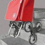 Metaltex Peony Chariot de courses avec 6roues, Metal, 120x 60x 6cm 120x60x6 cm rouge de la marque Metaltex image 1 produit