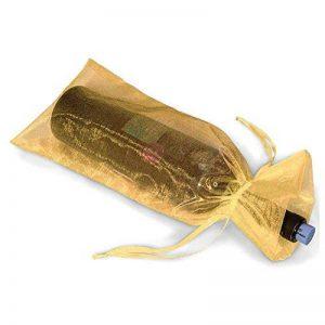 Meyfdsyf 20pcs Doré Transparent Bouteille de Vin Wrap Sac Organza Cadeau Emballage Sacs de la marque meyfdsyf image 0 produit