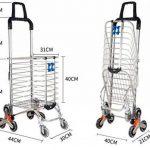 MEYLEE Alliage léger en aluminium Double poignée à double usage Shopping Trolley Folding 8 Wheel Large Capacity Shopper de la marque MEYLEE image 1 produit