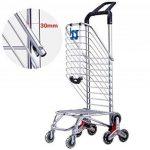 MEYLEE Alliage léger en aluminium Double poignée à double usage Shopping Trolley Folding 8 Wheel Large Capacity Shopper de la marque MEYLEE image 2 produit